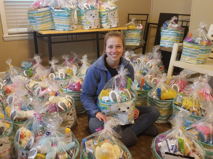Avella High School Student Carly Terensky Makes Easter Special for Children in Need