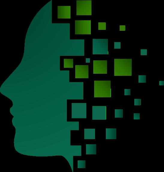 artwork showing data stream to human mind